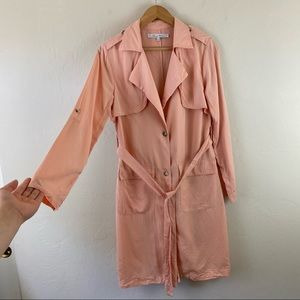 Lovers + Friends Pink Morning View Duster Jacket